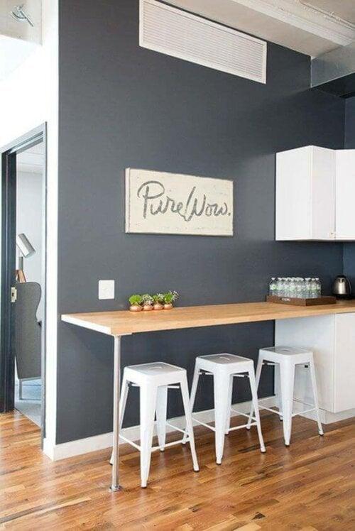 A kitchen bar.