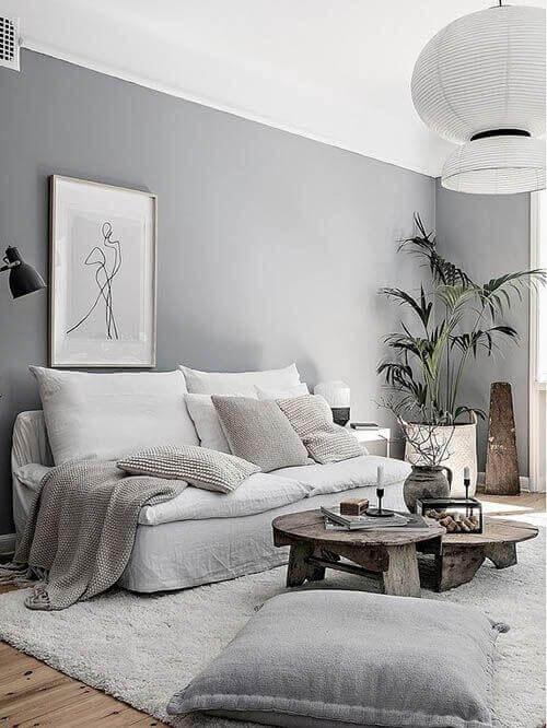A shabby chic living room.