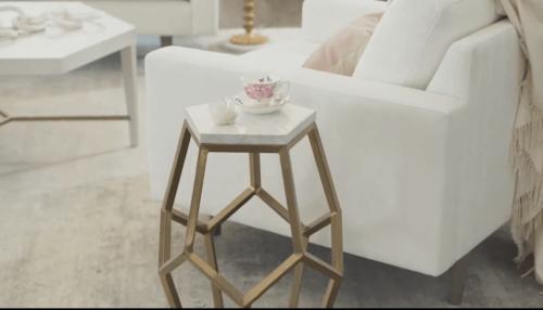 A geometrical coffee table.