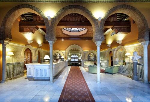 Hotel Granada's reception.