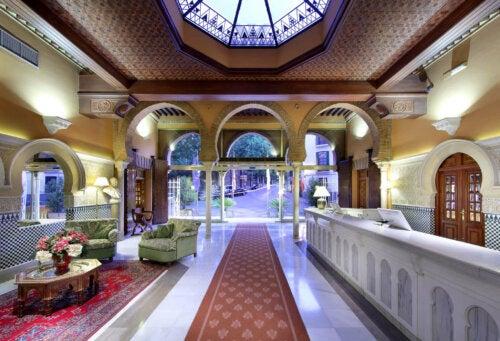 The common areas of Hotel Alhambra in Granada.