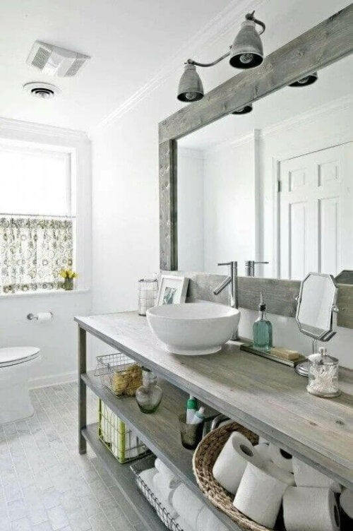 A white bathroom.