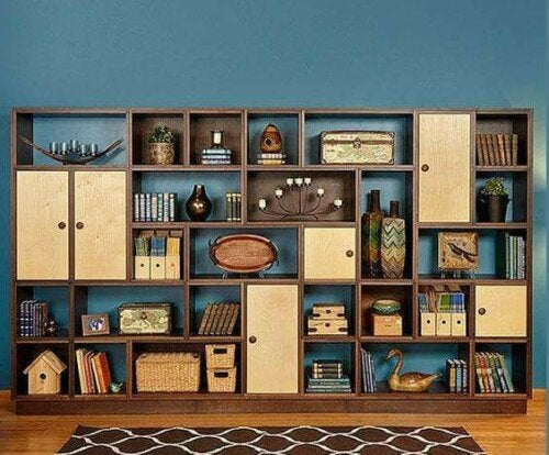 One example of modular furniture for small apartments is modular bookcases.
