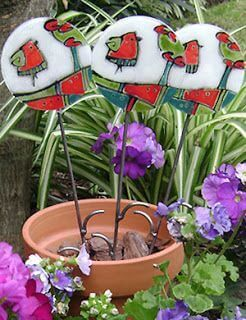 Canes in a flowerpot.