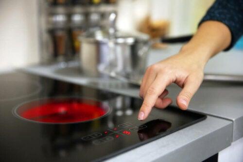 A ceramic stove.