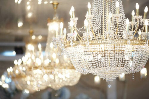 A chandelier.