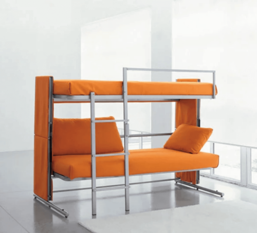 Compact sofas are another option of modular furniture for small apartments.