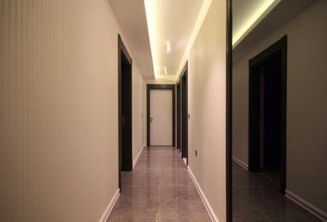 A small and dark hallway is an area that we need to illuminate