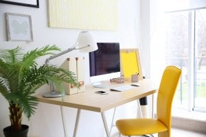 Working from home: choosing the right office furniture.