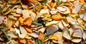 Dried fruit and veg.