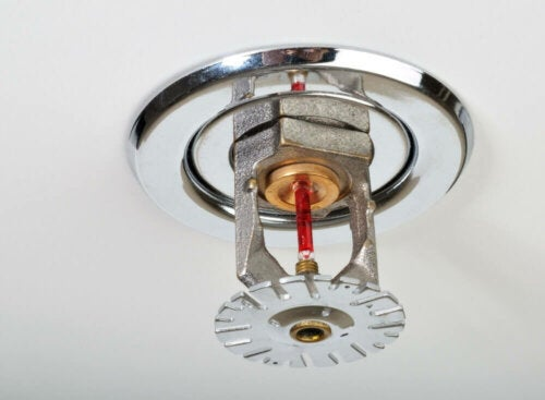 Sprinklers are one of the many fire safety systems.