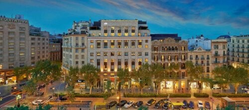 The Mandarin Oriental Hotel is located on Paseo de Gracia.