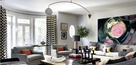 A modern living room designed by Natalia Miyar