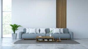 White marble flooring.