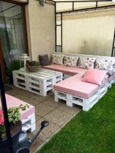 Pallet patio furniture.