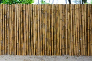 A exterior bamboo wall.