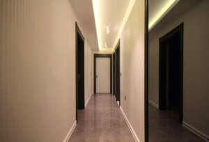 A house with dark corridors.