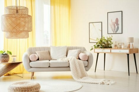 Brightly decorated room in the PYT trend