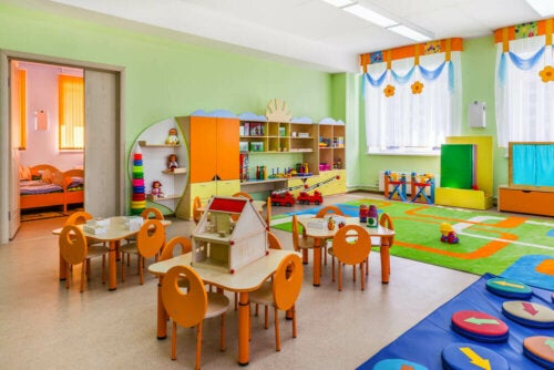 A bright children's educational center.