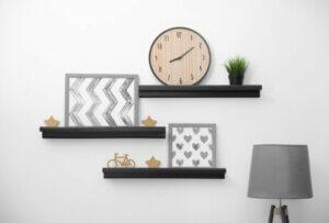 A trio of shelves.