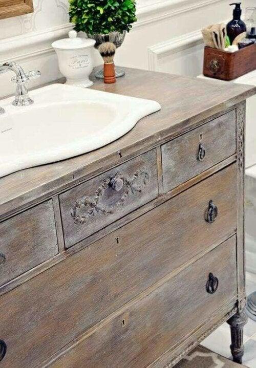 A under sink cabinet.