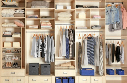 A closet or walk-in closet can be a small space.