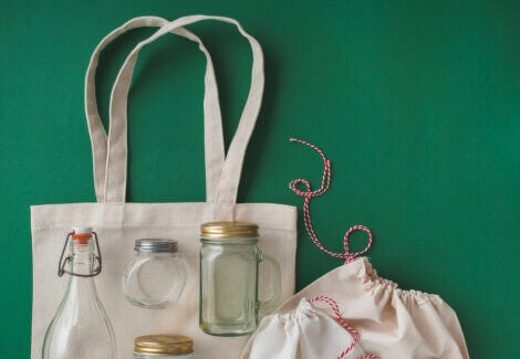 Different types of zero waste containers and bags we can use in our home