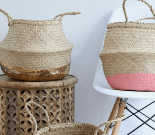 Decorate with baskets to create great storage solutions.