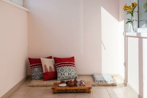 A bohemian sitting area.