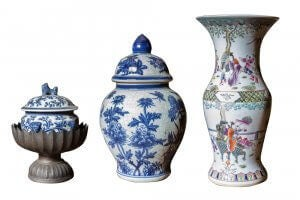 A collection of Chinese vases.
