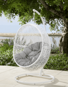Hanging chairs - the cocoon.