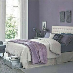 Blue, gray and lavender color scheme.