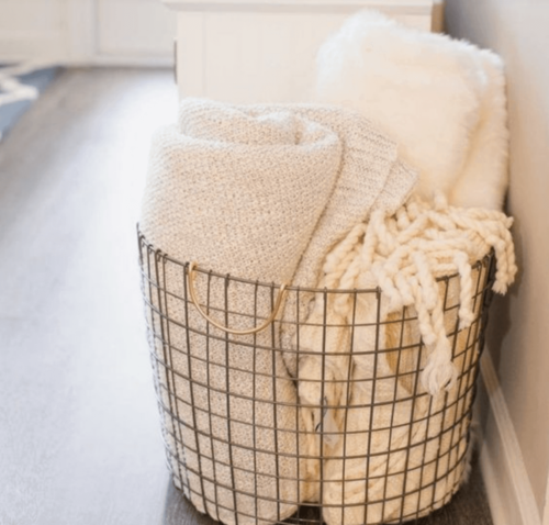 There are many great ways to decorate with baskets.