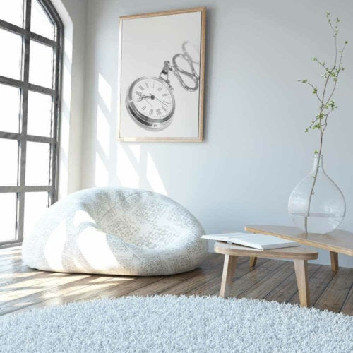 You can combine rugs in one room.