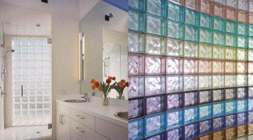 Glass blocks in various colors