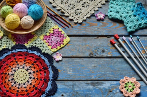 Examples of crochet showing decorating trends