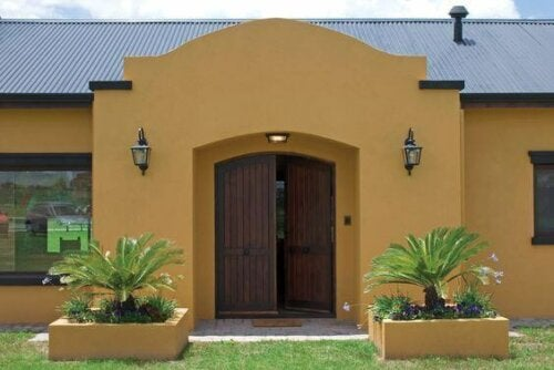 Different colors can work well on the exterior of a home as well.