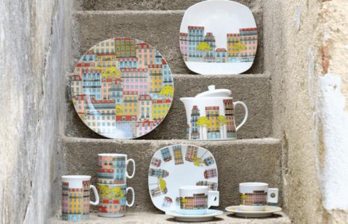 The Loja do Gato Preto Lisboa tableware set.