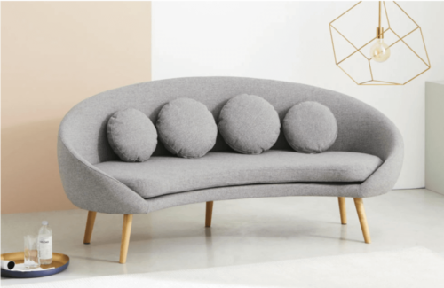 One of the nicest curved sofas.