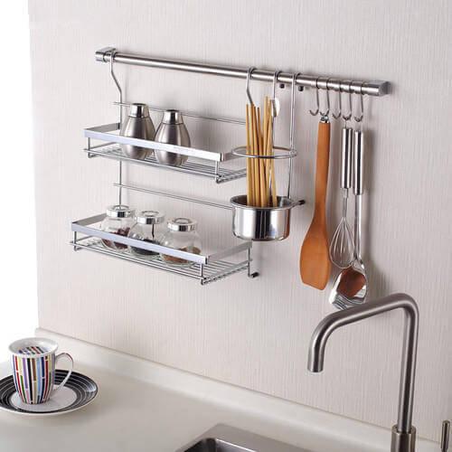 A kitchen rack.