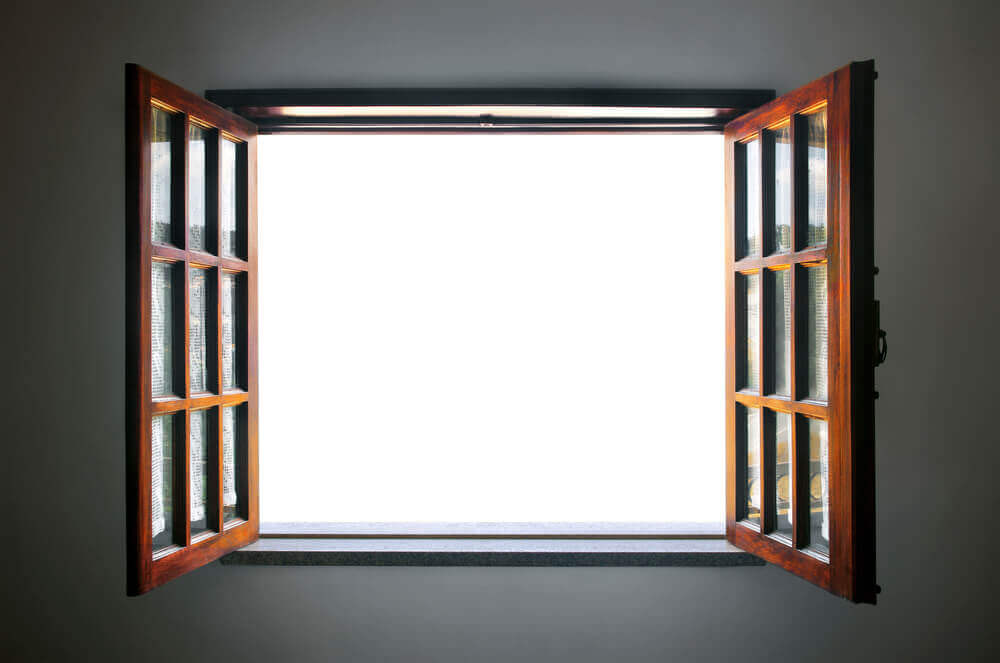 A window that is wide open