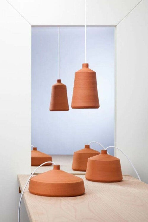 Clay lamps.