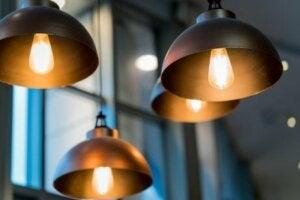 Metal lampshades.