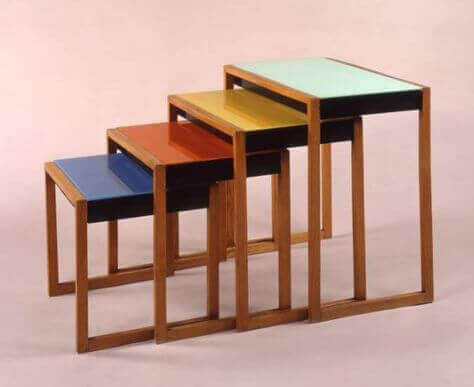 Nested tables in various colors