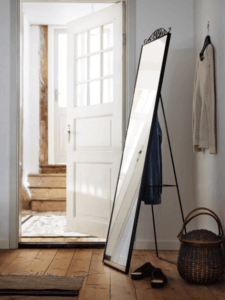 Floor mirrors: The IKEA Karsmund mirror.