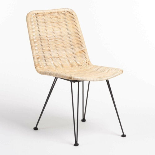 A synthetic rattan chair.