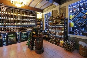 A wine store.