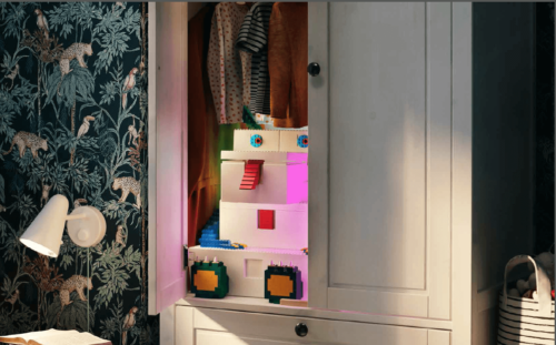 A creative storage solution with a toy inside.