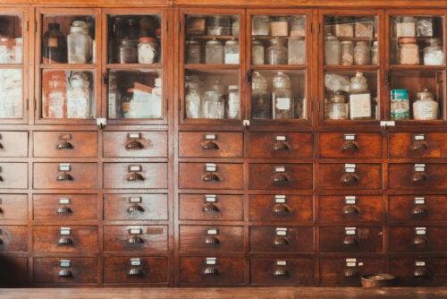 A large shelf for organizing.