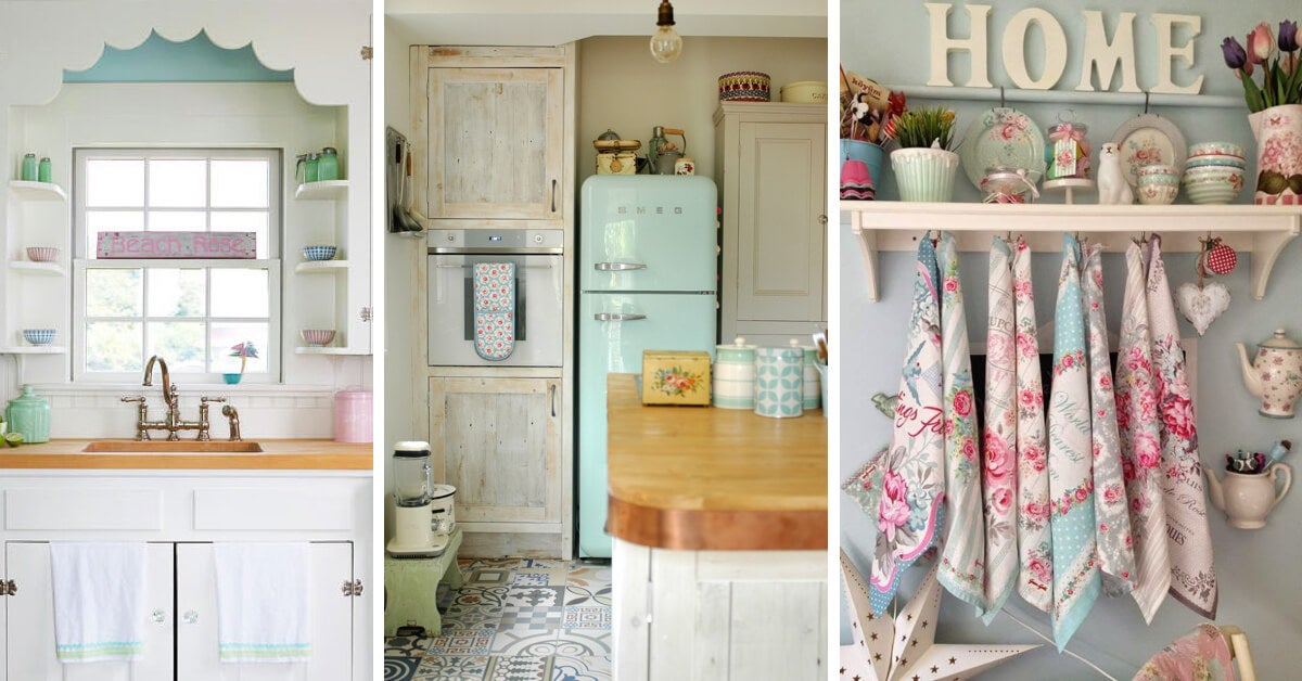 A few items used when creating a vintage kitchen.